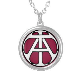 AN/TA Monogramm Halskette Mit Rundem Anhänger