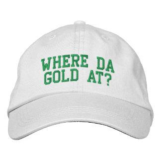 An wo DA-Gold? Bestickte Mütze