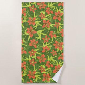 Anaina Hou hawaiisches tropisches Blumen - Strandtuch