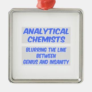 Analytischer Chemiker-Witz. Genie und Geisteskrank Weihnachtsbaum Ornamente