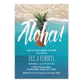 Ananas-Aloha tropisches Strand-Brautparty Karte