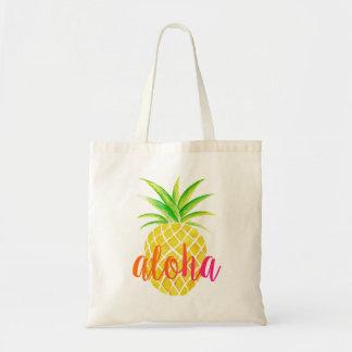 Ananas-Aquarell-Aloha tropische rosa Tasche