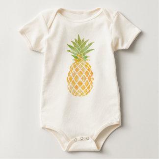 Ananas-Aquarell-Baby-Kleidung Baby Strampler