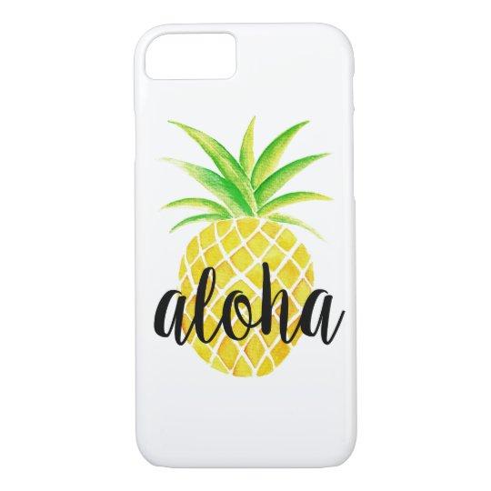 Ananas-Aquarell tropisch Aloha iPhone 7 Hülle
