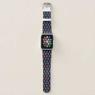 Ananas auf Marine Apple Watch Armband