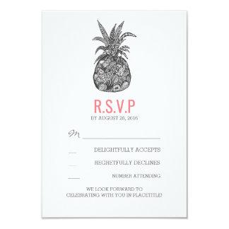 Ananas brach tropische Hochzeit UAWG-Karten 8,9 X 12,7 Cm Einladungskarte