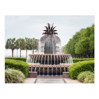 Ananas-Brunnen Charlestons, South Carolina Postkarte