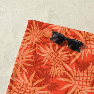 Ananas-Camouflage-hawaiisches tropisches - Orange Strandtuch