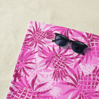 Ananas-Camouflage-hawaiisches tropisches - Rosa Strandtuch