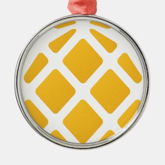 Ananas, Frucht, Logo, Nahrung, tropisch, Silbernes Ornament