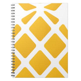 Ananas, Frucht, Logo, Nahrung, tropisch, Spiral Notizblock