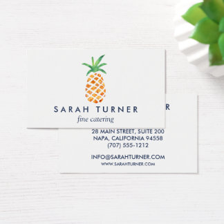 Ananas-Lebensmittellieferant-Gastfreundschaft Visitenkarte