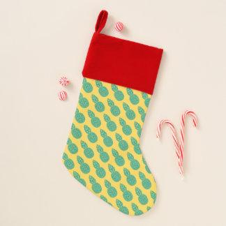 Ananas-Muster | addieren Ihre Initiale Weihnachtsstrumpf