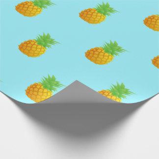 Ananas-Muster auf Blau Geschenkpapier