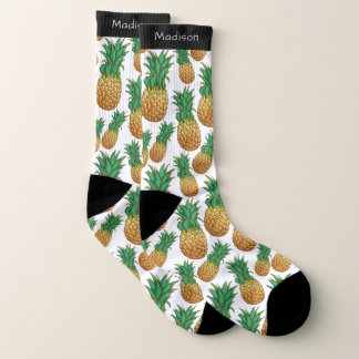 Ananas-Muster-Namesocken Socken
