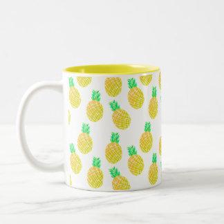 Ananas-Muster - Tasse