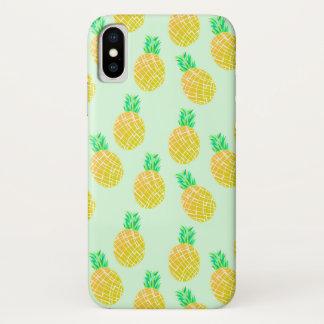 Ananas-Muster - Telefonkasten iPhone X Hülle