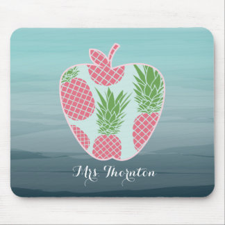 Ananas Ombre Apple personalisierter Lehrer Mousepads
