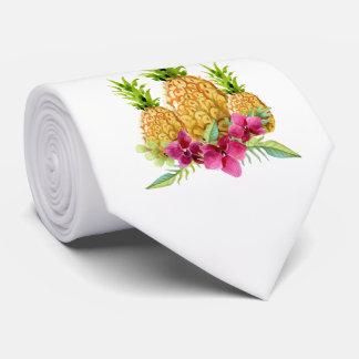 Ananas-Orchideen-Farn-tropische Hochzeits-Krawatte Krawatte