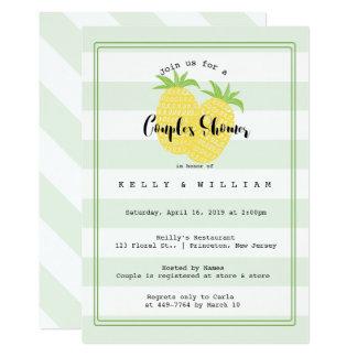 Ananas-Paar-tropische Paar-Duschen-Einladung 12,7 X 17,8 Cm Einladungskarte