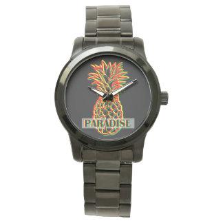 Ananas-Paradies Uhr