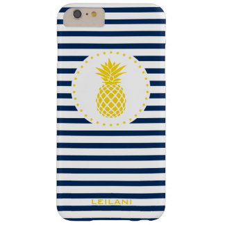 Ananas-personalisierter Telefon-Kasten Barely There iPhone 6 Plus Hülle