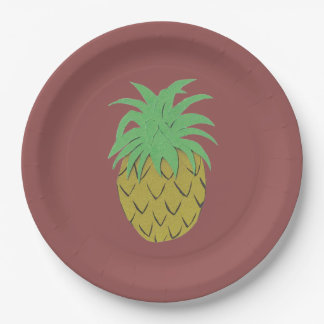 Ananas-Platte Pappteller