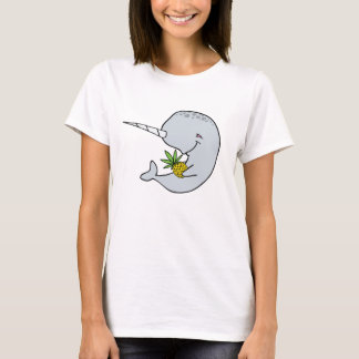 Ananas-Shirt der Damen-Narwhal T-Shirt