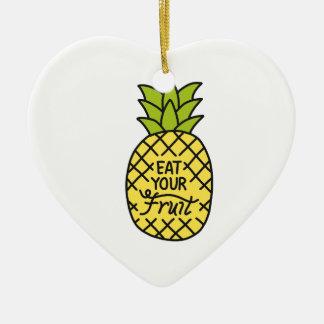 """ANANAS, Shirts """"essen Ihrer Frucht"""", Zusätze, g Keramik Ornament"""