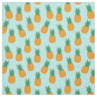 Ananas-Sommer-Aqua-Tupfen-Gewebe Stoff