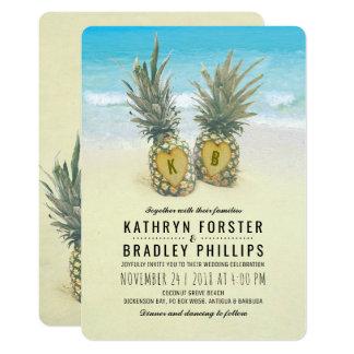 Ananas-tropische Strand-Hochzeit in Urlaubsort Karte