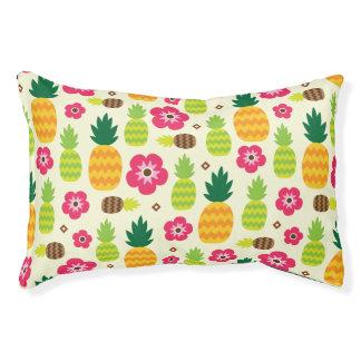 Ananas-tropischer Sommer-nahtloses Muster Haustierbett