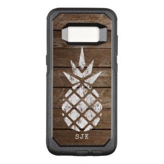 Ananas, Tünche auf verwittertem Holz OtterBox Commuter Samsung Galaxy S8 Hülle