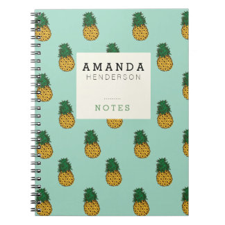 Ananas u. tadelloses Notizbuch