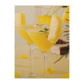 Ananas und Ingwer Fresca Cocktail Holzleinwände