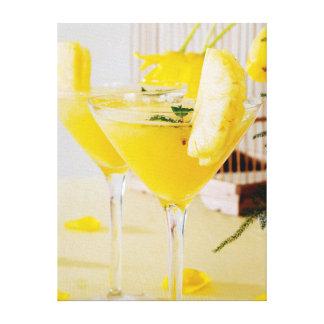 Ananas und Ingwer Fresca Cocktail Leinwand Druck