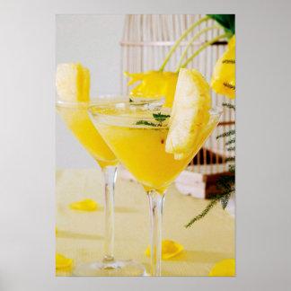 Ananas und Ingwer Fresca Cocktail Poster