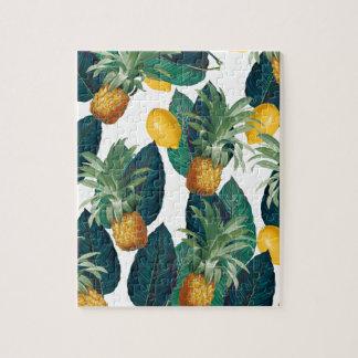 Ananas- und Zitronenweiß Puzzle