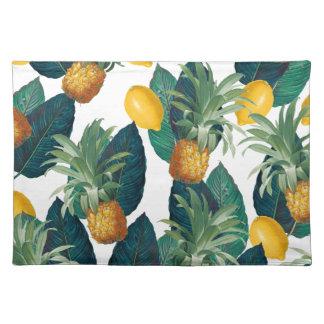 Ananas- und Zitronenweiß Tischset