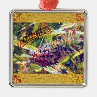 Ananas-Verzierungen Silbernes Ornament