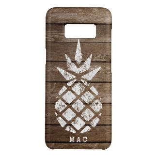 Ananas, Whitewash auf Imitat verwittertem Holz Case-Mate Samsung Galaxy S8 Hülle