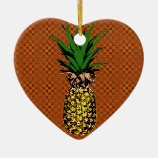 Ananas-Zeitungspapier Keramik Ornament
