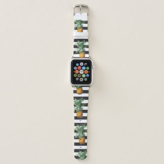 Ananasstreifen grau apple watch armband