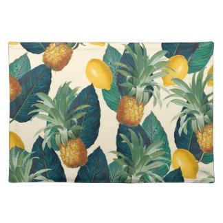 Ananaszitronengelb Stofftischset
