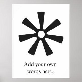 ANANSE NTONTAN   Symbol von Klugheit, Kreativität Poster