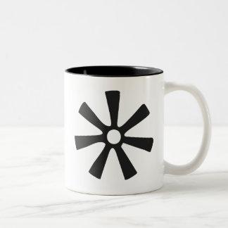 ANANSE NTONTAN | Symbol von Klugheit, Kreativität Zweifarbige Tasse