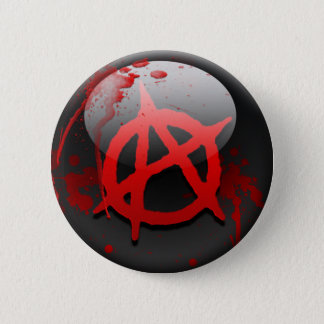 Anarchie-Flagge Runder Button 5,7 Cm