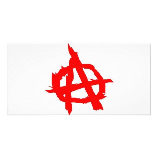 Anarchie Photo Grußkarte