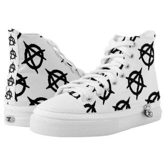 Anarchie Hoch-geschnittene Sneaker