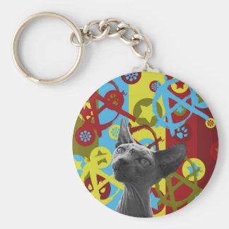 Anarchie-Katze Schlüsselanhänger